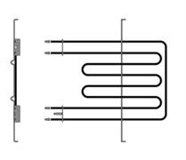 Нагревательный элемент духовки двойной верхний 2250+556W Indesit Ariston C00081591