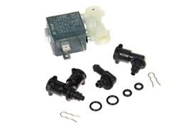 Клапан электромагнитный с переходниками прокладками и скобами для кофемашины Delonghi 5513225701