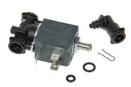 Клапан электромагнитный с переходником прокладками и скобой для кофемашины Delonghi 5513225711