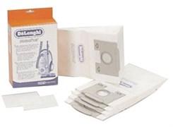 Мешок бумажный (5шт) + микрофильтр (2шт) для пылесоса Delonghi 5591107700