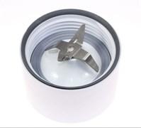 Нож блендерной чаши AT338 в сборе белый для кухонного комбайна Kenwood KW696809