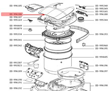 Верхняя часть крышки мультиварки Moulinex SS-996186, US-7222026986