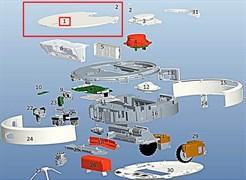 Крышка верхняя для робота пылесоса Xiaomi Mi Robot Vacuum C015300000700