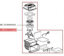 Сборка двигателя для пылесоса Rowenta RS-2230000712