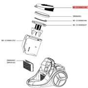 Крышка контейнера RS-2230002148 для пылесоса Rowenta Silence Force/X-trem Power